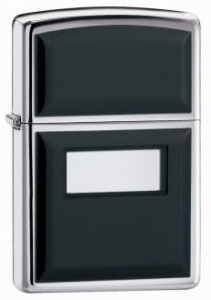 ZIPPO 355 Ultralite Black High Polish Chrome